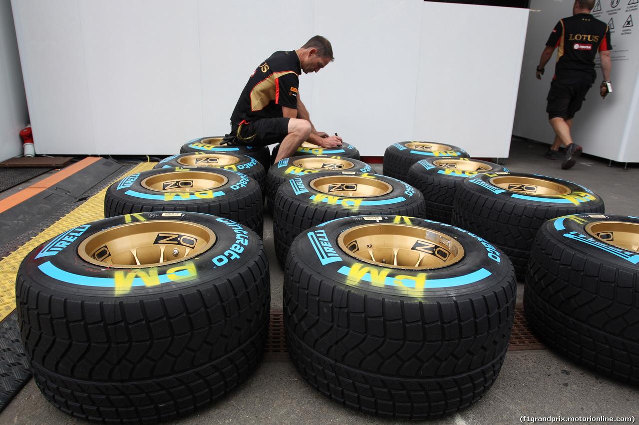 GP AUSTRIA, 19.06.2014- Pirelli Tyre e OZ Wheels