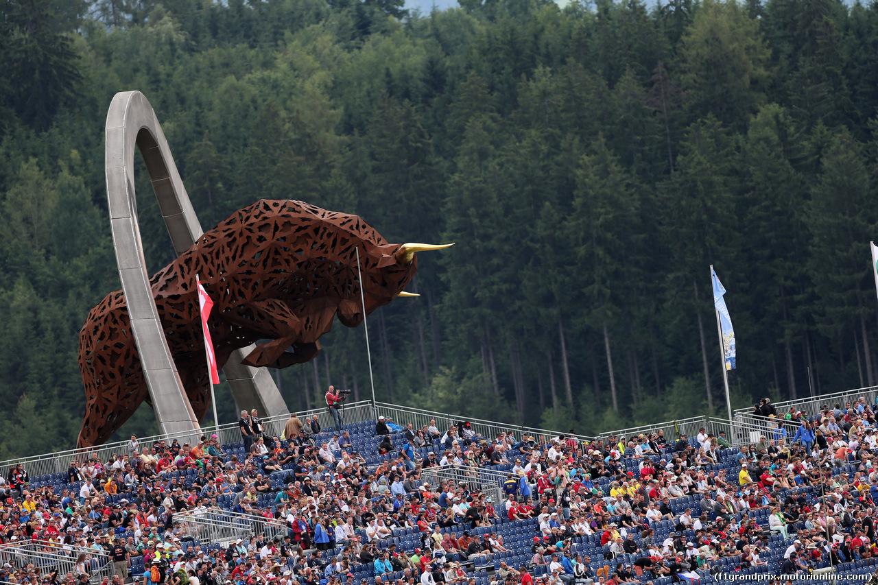 GP AUSTRIA, 21.06.2014- Prove Libere 3, Fans