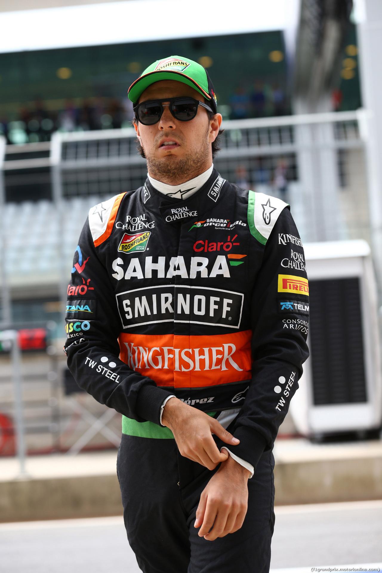GP AUSTRIA, 21.06.2014- Prove Libere 3, Sergio Perez (MEX) Sahara Force India F1 VJM07