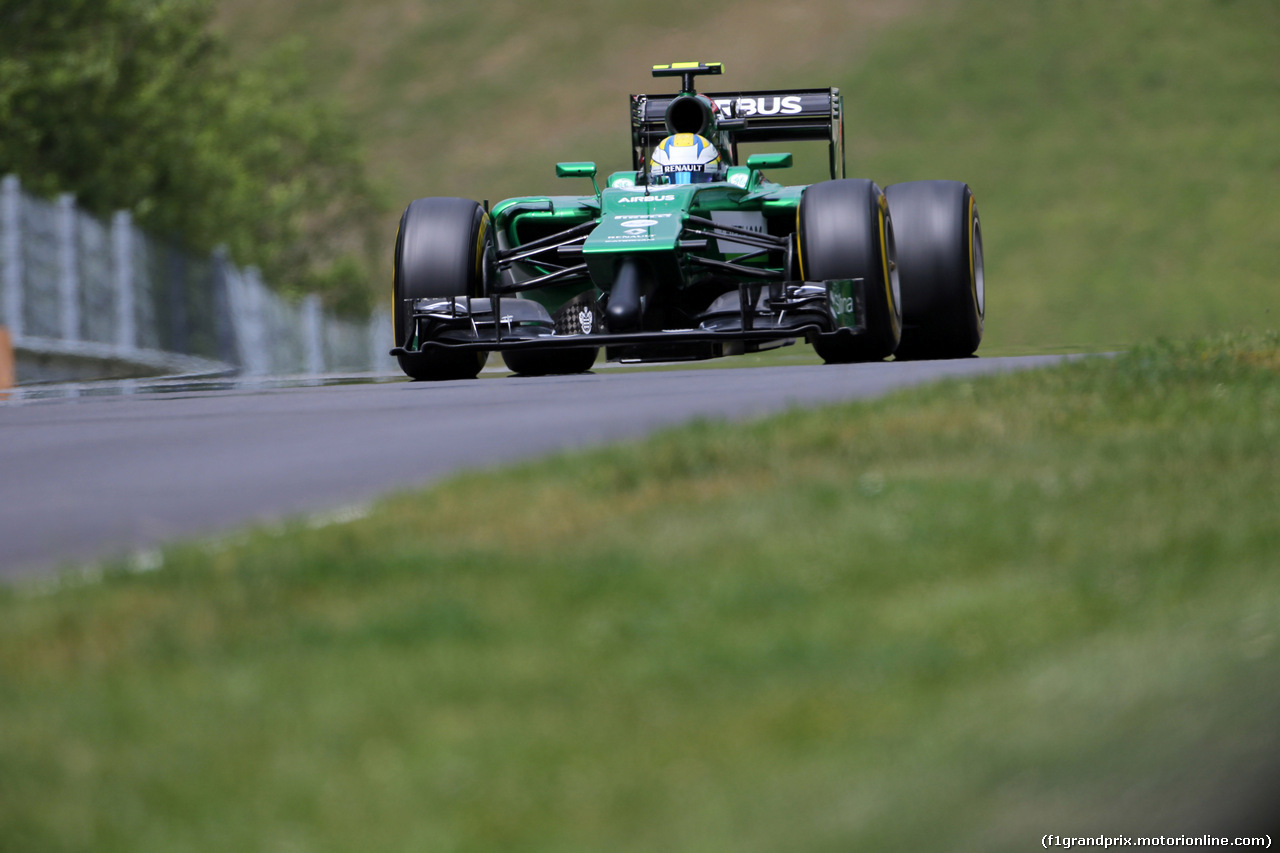 GP AUSTRIA, 21.06.2014- Prove Libere 3, Marcus Ericsson (SUE) Caterham F1 Team CT-04
