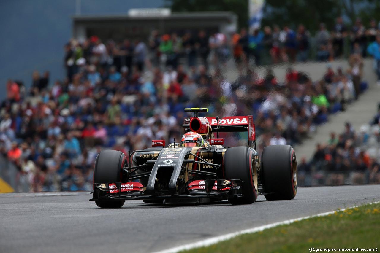 GP AUSTRIA, 21.06.2014- Prove Libere 3, Pastor Maldonado (VEN) Lotus F1 Team E22