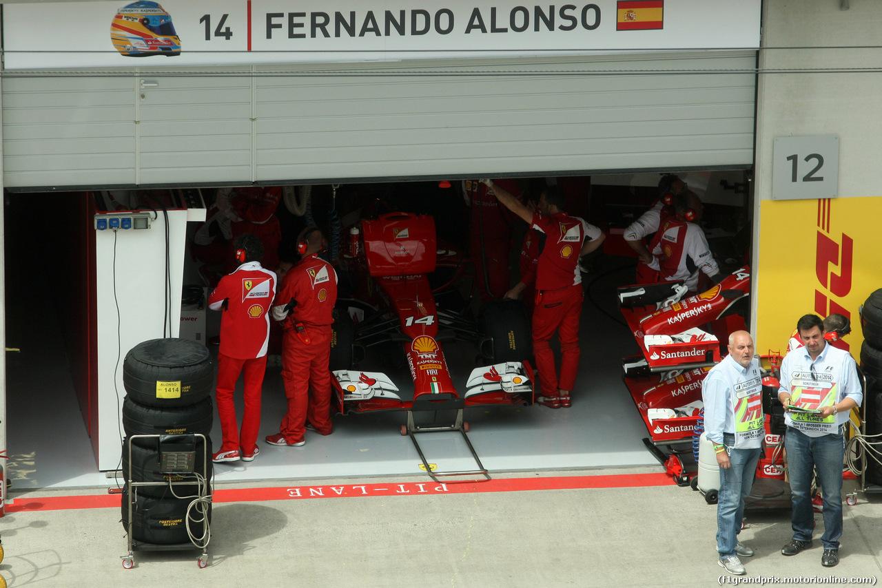 GP AUSTRIA, 21.06.2014- Qualifiche, Fernando Alonso (ESP) Ferrari F14-T