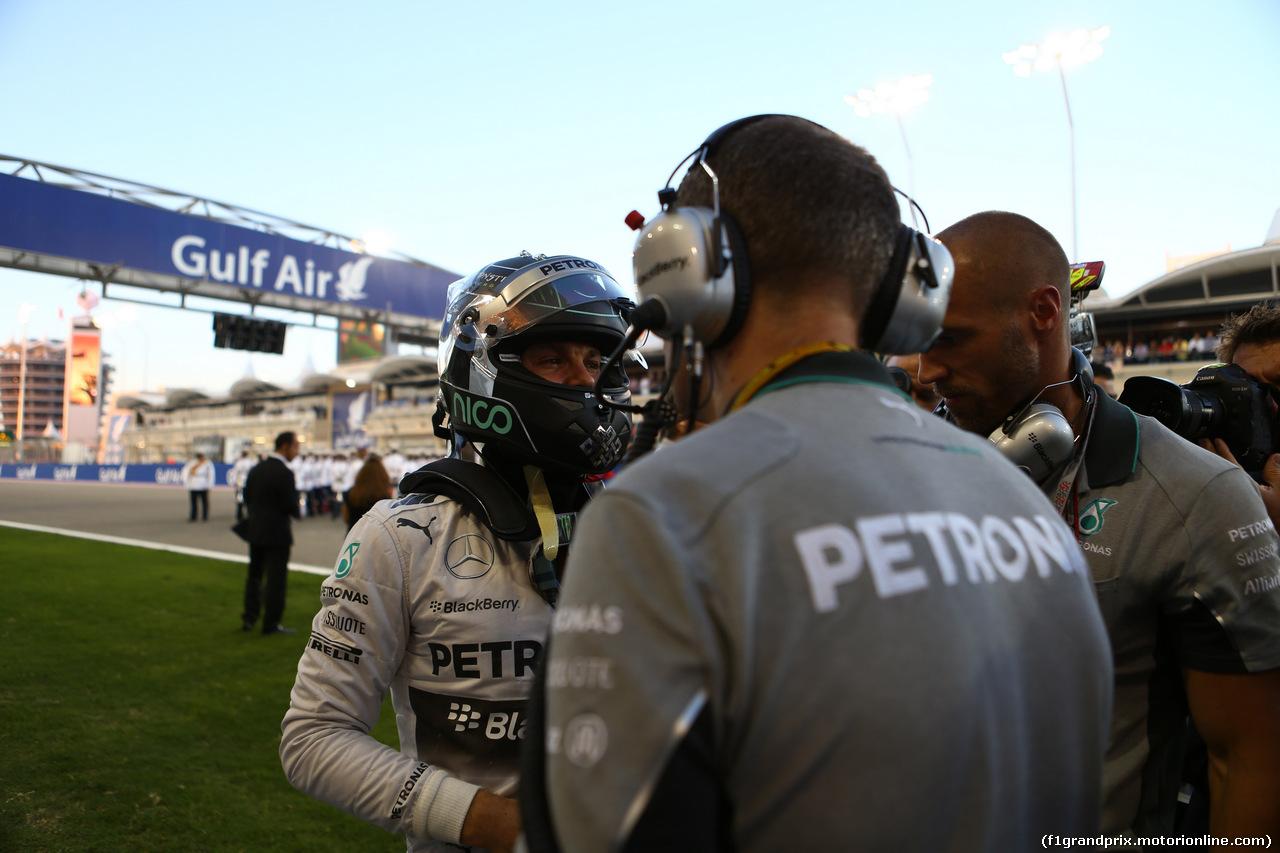 GP BAHRAIN, 06.04.2014- Gara, Nico Rosberg (GER) Mercedes AMG F1 W05