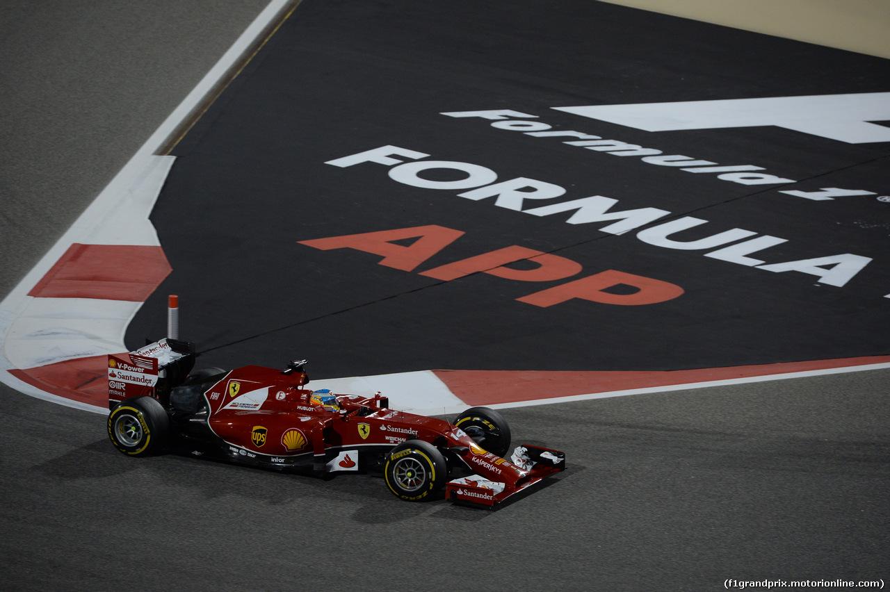 GP BAHRAIN, 06.04.2014- Gara, Fernando Alonso (ESP) Ferrari F14T