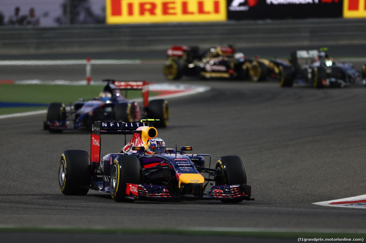 GP BAHRAIN, 06.04.2014- Gara, Daniel Ricciardo (AUS) Infiniti Red Bull Racing RB10