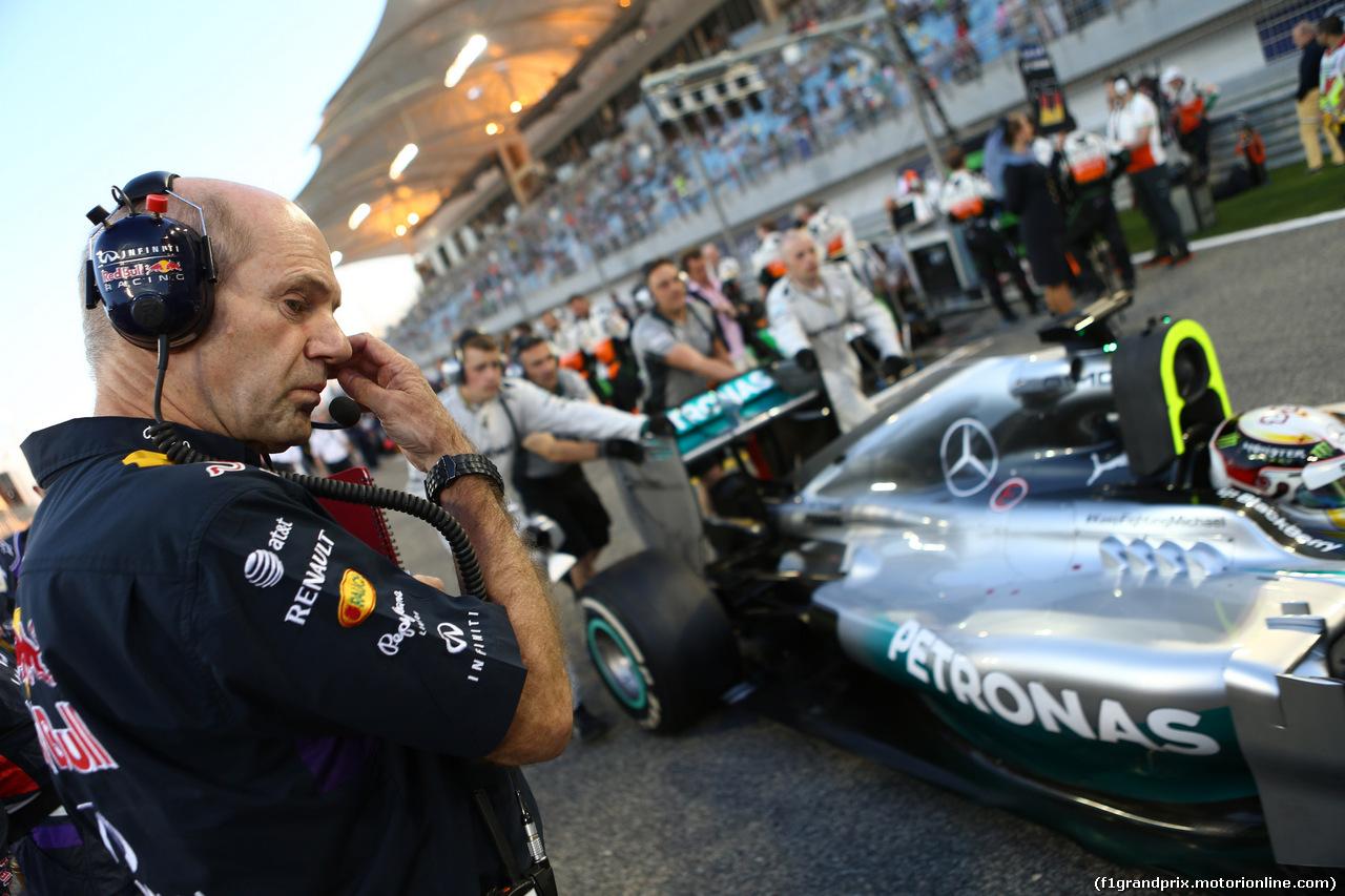 GP BAHRAIN, 06.04.2014- Gara, Adrian Newey (GBR), Red Bull Racing , Technical Operations Director