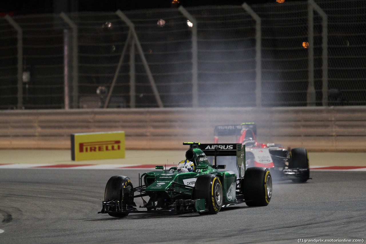 GP BAHRAIN, 06.04.2014- Gara, Marcus Ericsson (SWE) Caterham F1 Team CT-04