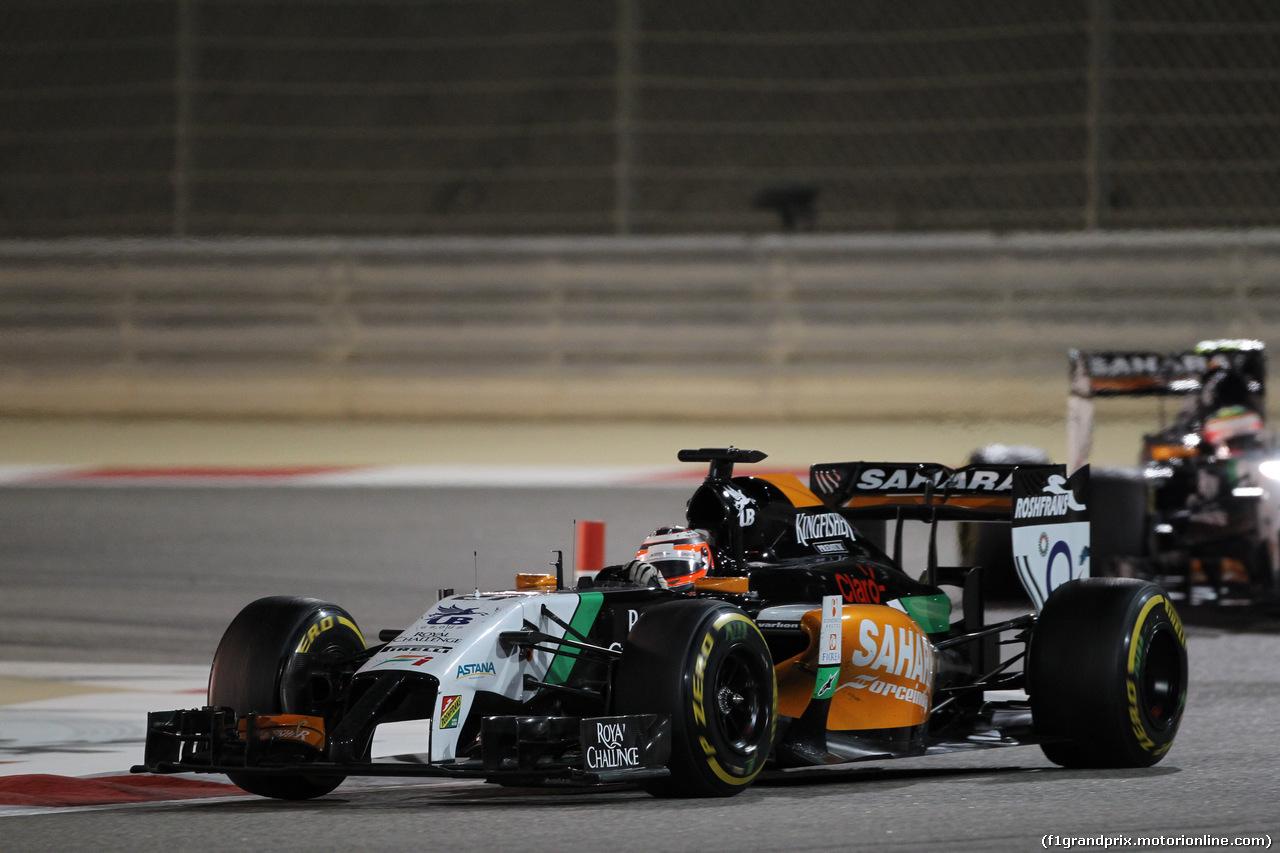 GP BAHRAIN, 06.04.2014- Gara, Nico Hulkenberg (GER) Sahara Force India VJM07