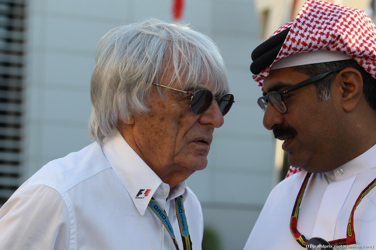 GP BAHRAIN, 06.04.2014- Gara, Bernie Ecclestone (GBR), President e CEO of Formula One Management
