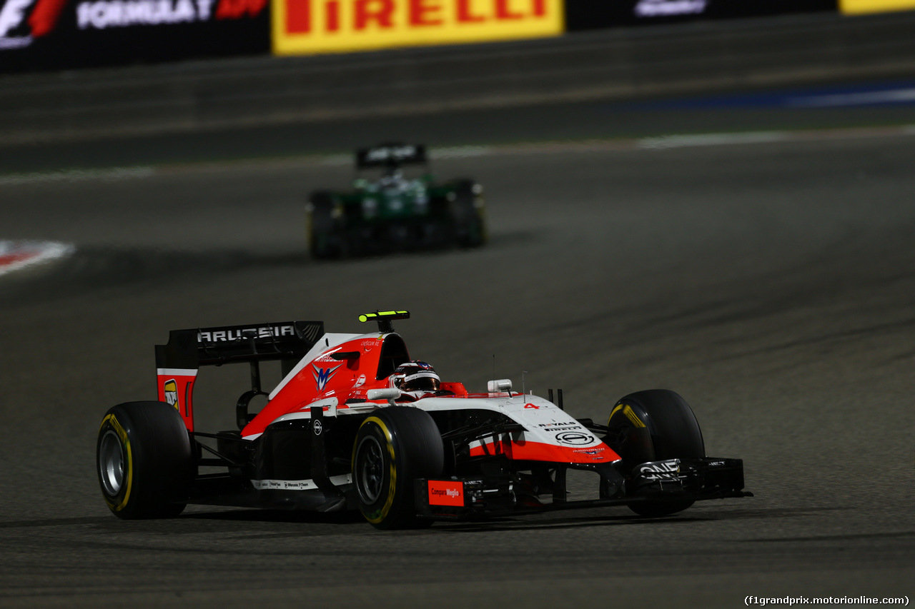 GP BAHRAIN, 06.04.2014- Gara, Max Chilton (GBR), Marussia F1 Team MR03