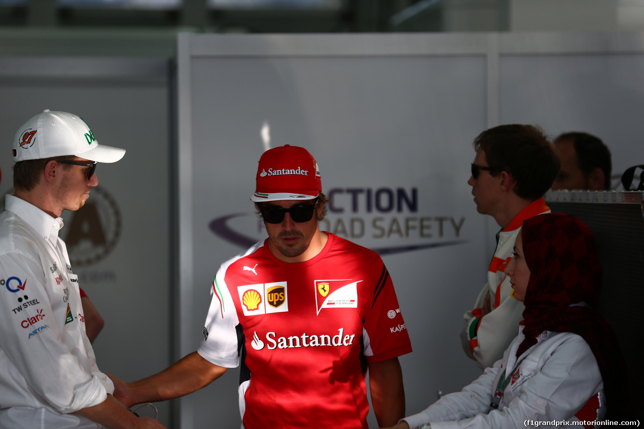 GP BAHRAIN, 06.04.2014- Fernando Alonso (ESP) Ferrari F14T