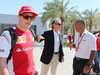 GP BAHRAIN, 06.04.2015- 06.04.2015- Luca Cordero di Montezemolo (ITA), President Ferrari e Kimi Raikkonen (FIN) Ferrari F147