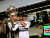 GP BAHRAIN, 06.04.2014- Lewis Hamilton (GBR) Mercedes AMG F1 W05 celebration for his victory after the race