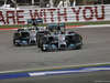 GP BAHRAIN, 06.04.2014- Gara, Nico Rosberg (GER) Mercedes AMG F1 W05 in fight with Lewis Hamilton (GBR) Mercedes AMG F1 W05