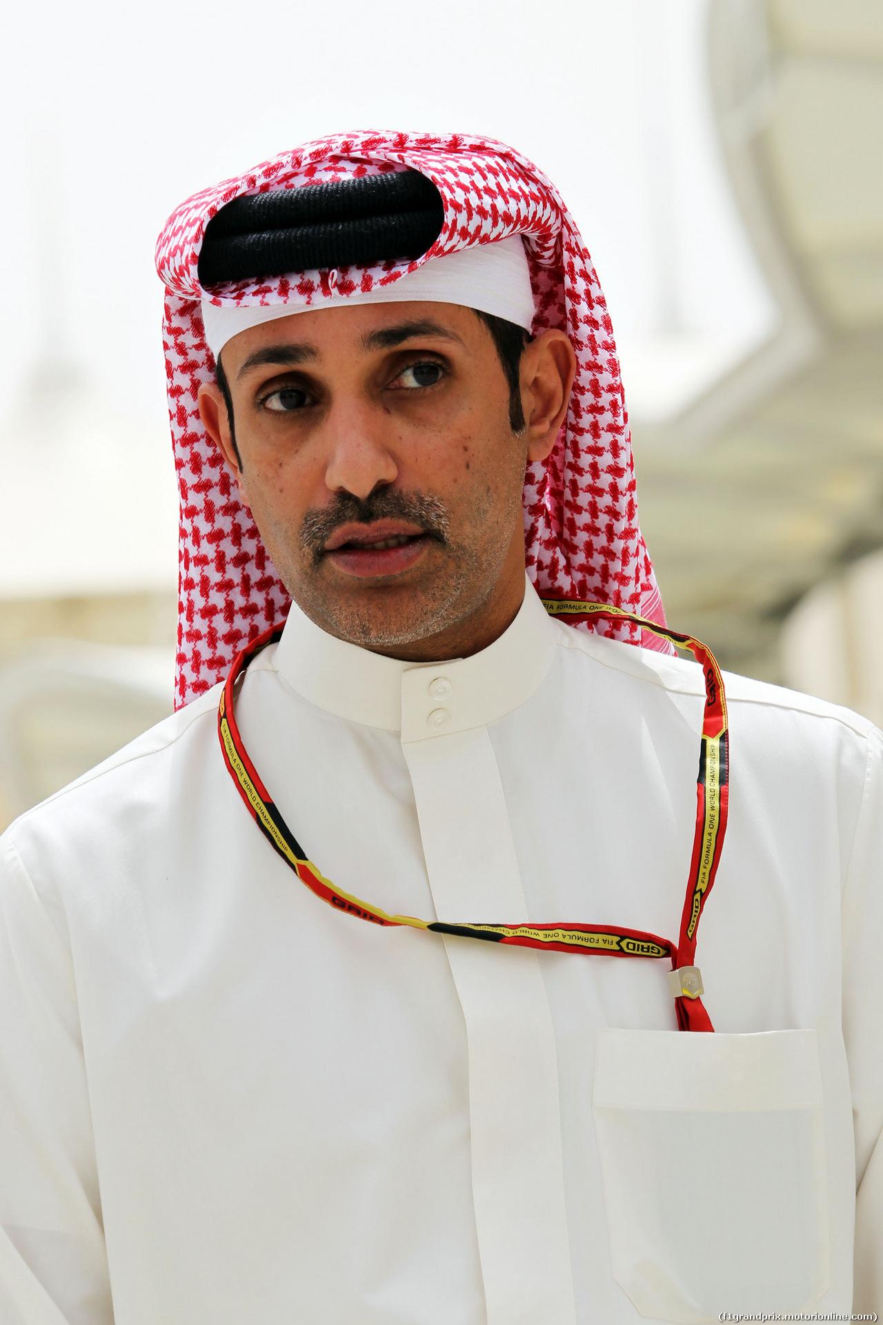 GP BAHRAIN, Sheikh Salman bin Isa Al-Khalifa (BRN) Chief Executive of Bahrain International Circuit. 03.04.2014. Formula 1 World Championship, Rd 3, Bahrain Grand Prix, Sakhir, Bahrain, Preparation Day.