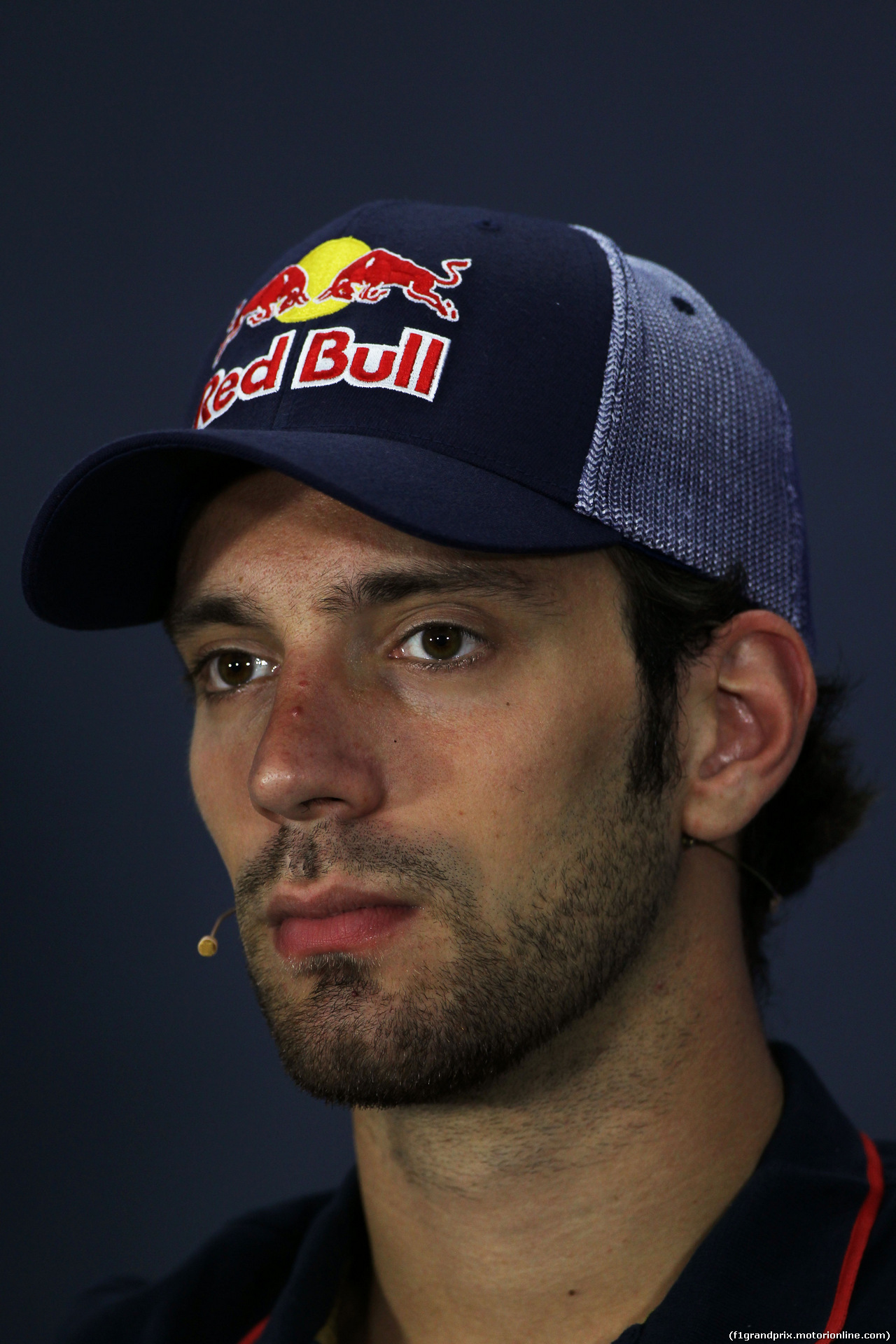 GP BAHRAIN, Jean-Eric Vergne (FRA) Scuderia Toro Rosso in the FIA Press Conference. 03.04.2014. Formula 1 World Championship, Rd 3, Bahrain Grand Prix, Sakhir, Bahrain, Preparation Day.