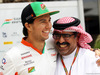 GP BAHRAIN, (L to R): Sergio Perez (MEX) Sahara Force India F1 with Muhammed Al Khalifa (BRN) Bahrain Circuit Chairman. 03.04.2014. Formula 1 World Championship, Rd 3, Bahrain Grand Prix, Sakhir, Bahrain, Preparation Day.