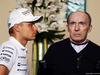 GP BAHRAIN, (L to R): Valtteri Bottas (FIN) Williams with Frank Williams (GBR) Williams Team Owner. 03.04.2014. Formula 1 World Championship, Rd 3, Bahrain Grand Prix, Sakhir, Bahrain, Preparation Day.