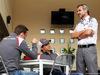 GP BAHRAIN, (L to R): Giedo van der Garde (NLD) Sauber Reserve Driver with Esteban Gutierrez (MEX) Sauber e Beat Zehnder (SUI) Sauber F1 Team Manager. 03.04.2014. Formula 1 World Championship, Rd 3, Bahrain Grand Prix, Sakhir, Bahrain, Preparation Day.