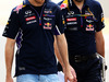 GP BAHRAIN, Sebastian Vettel (GER) Red Bull Racing walks the circuit with Guillaume Rocquelin (ITA) Red Bull Racing Gara Engineer. 03.04.2014. Formula 1 World Championship, Rd 3, Bahrain Grand Prix, Sakhir, Bahrain, Preparation Day.