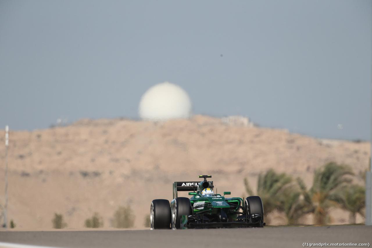 GP BAHRAIN, 05.04.2014- Free practice 3,  Marcus Ericsson (SWE) Caterham F1 Team CT-04