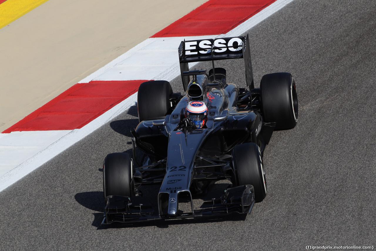 GP BAHRAIN, 05.04.2014- Free practice 3, Jenson Button (GBR) McLaren Mercedes MP4-29