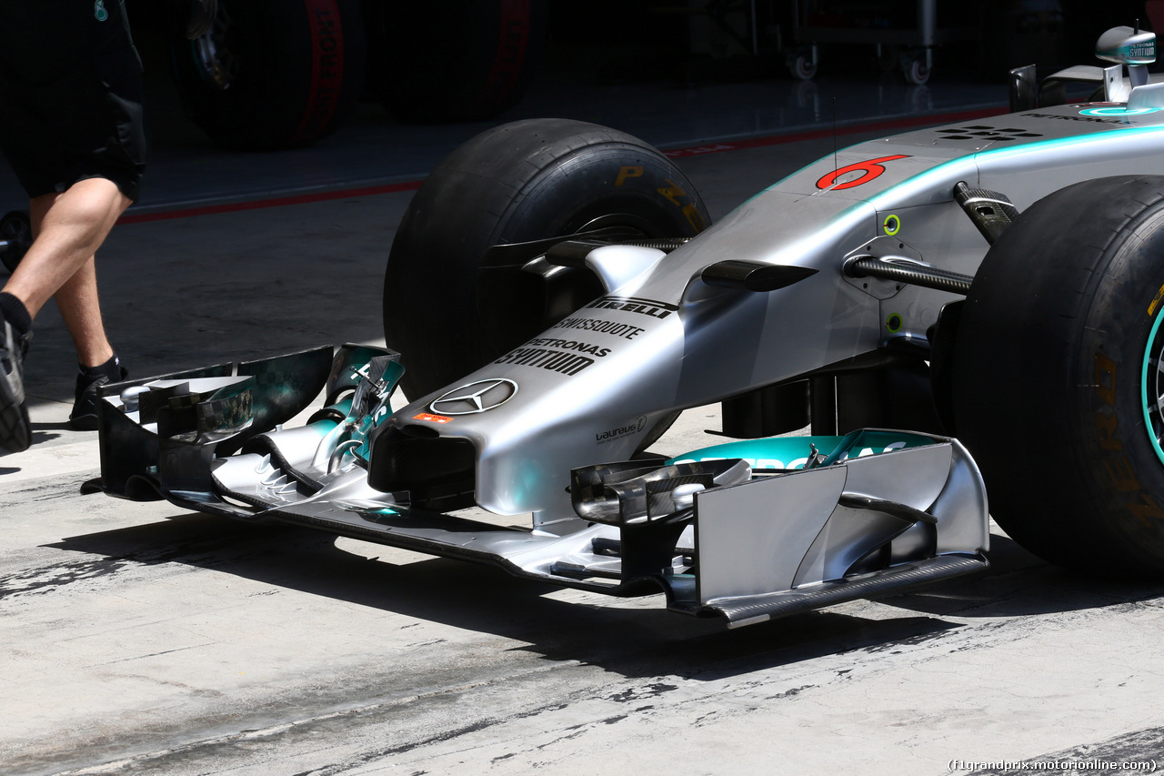 GP BAHRAIN, 05.04.2014- Mercedes Frontal Wing