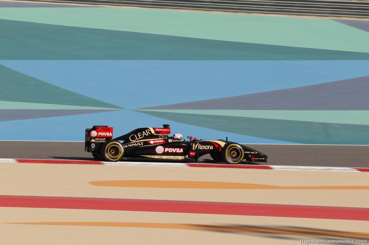 GP BAHRAIN, 05.04.2014- Free practice 3, Romain Grosjean (FRA) Lotus F1 Team E22