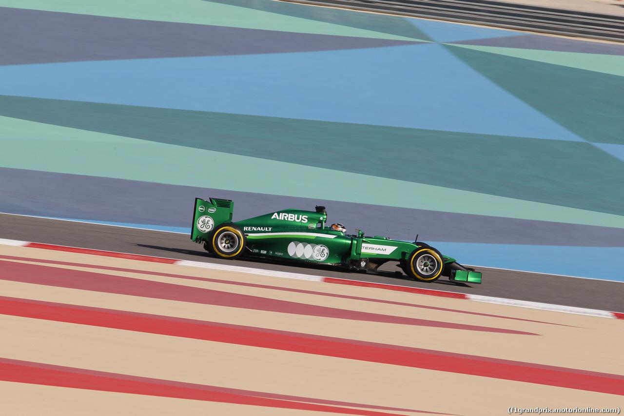 GP BAHRAIN, 05.04.2014- Free practice 3, Kamui Kobayashi (JPN) Caterham F1 Team CT05