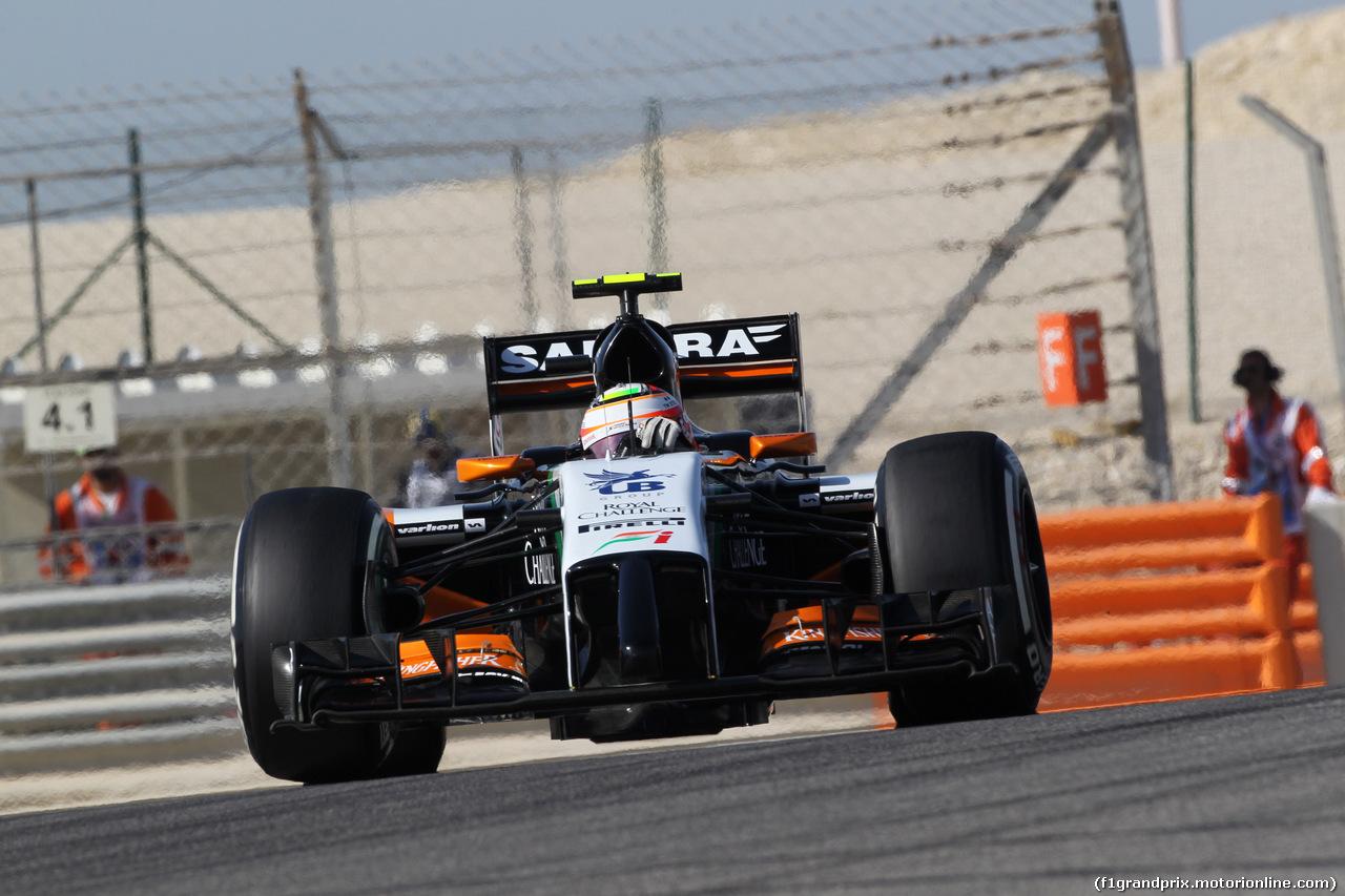 GP BAHRAIN, 05.04.2014- Free practice 3, Sergio Perez (MEX) Sahara Force India F1 Team VJM07