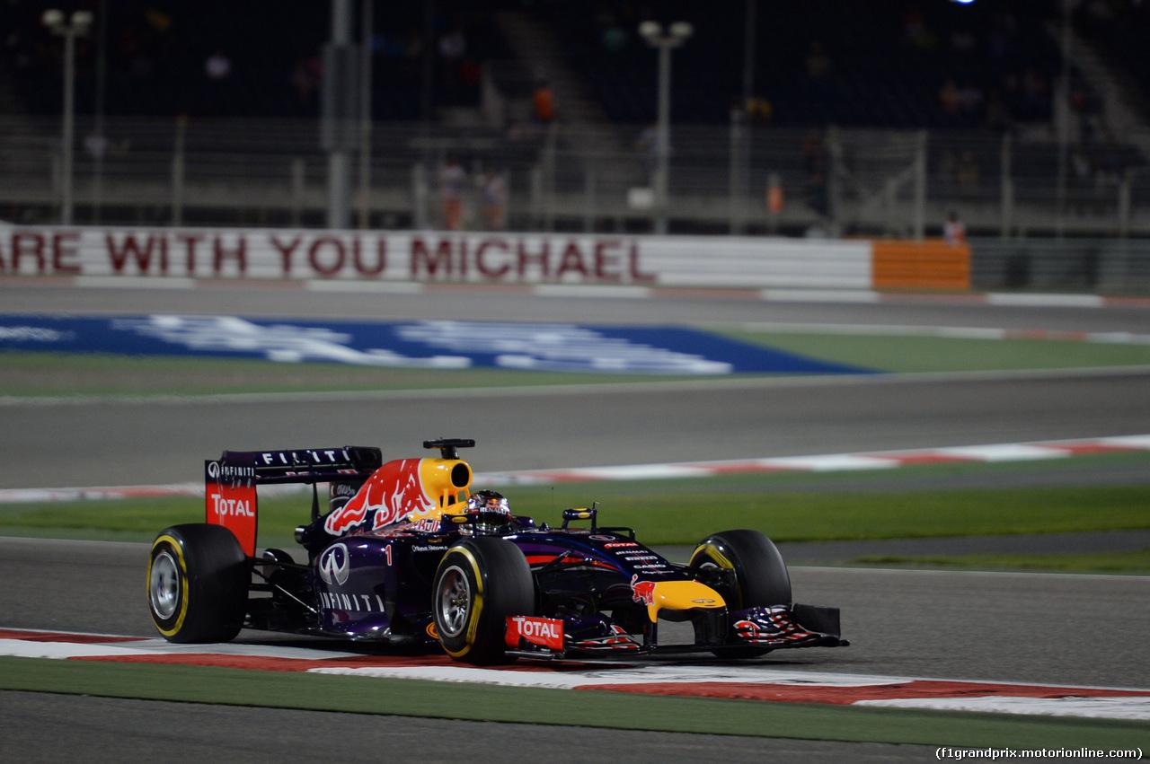 GP BAHRAIN, 05.03.2014- Qualifiche, Sebastian Vettel (GER) Infiniti Red Bull Racing RB10