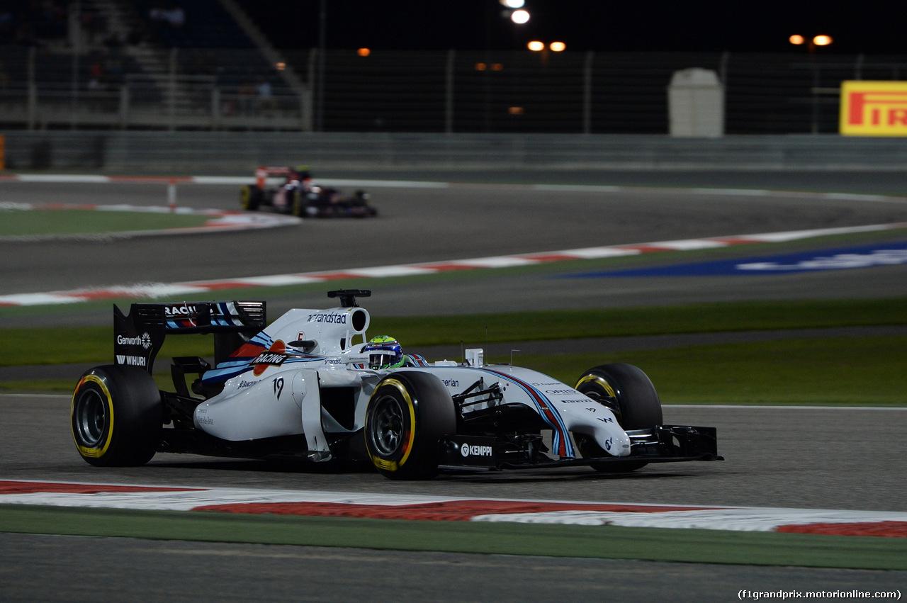 GP BAHRAIN, 05.03.2014- Qualifiche, Felipe Massa (BRA) Williams F1 Team FW36
