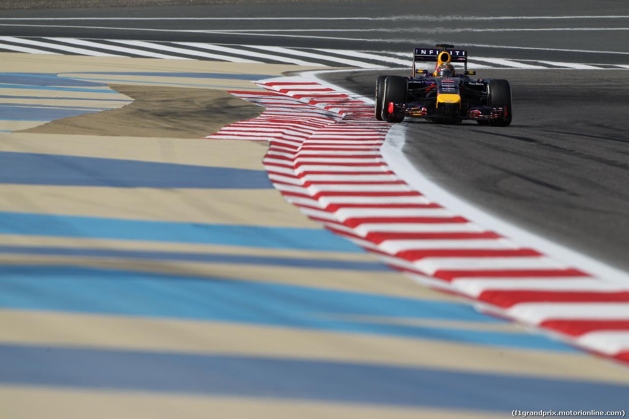 GP BAHRAIN, 04.04.2014- free Practice 1, Sebastian Vettel (GER) Infiniti Red Bull Racing RB10