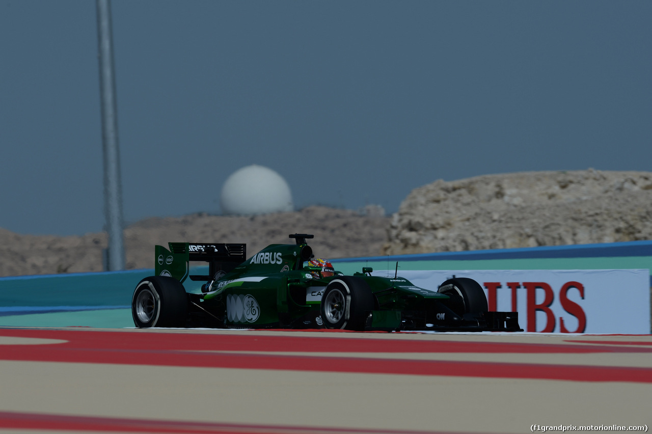GP BAHRAIN, 04.04.2014- Prove Libere 1, Robin Frijns (NED) Caterham F1 Team CT05 3rd driver
