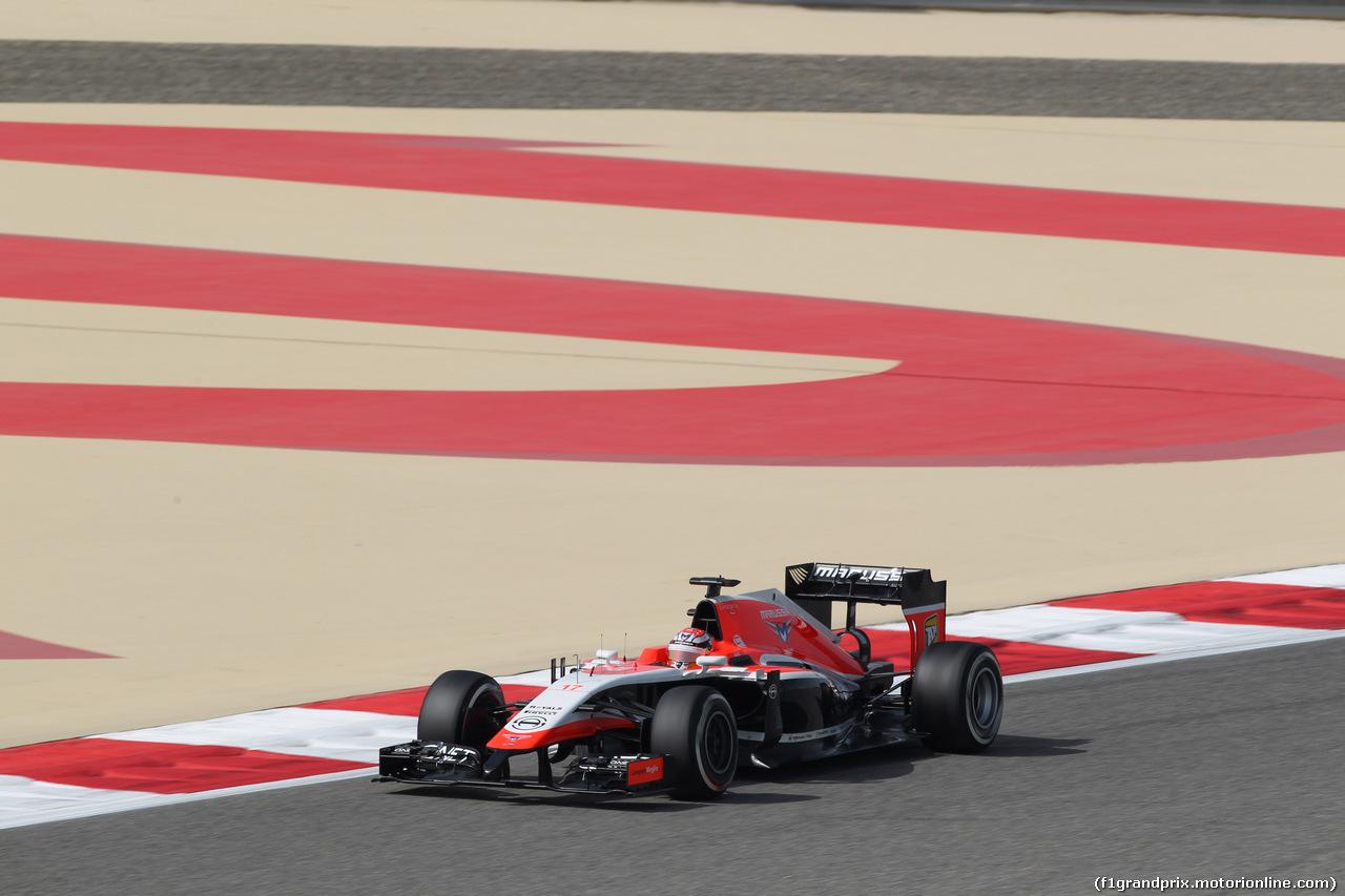 GP BAHRAIN, 04.04.2014- Prove Libere 1, Jules Bianchi (FRA) Marussia F1 Team MR03