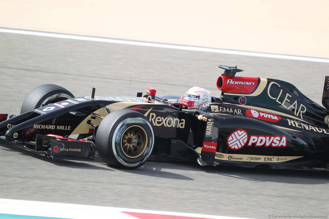 GP BAHRAIN, 04.04.2014- Prove Libere 1, Romain Grosjean (FRA) Lotus F1 Team E22