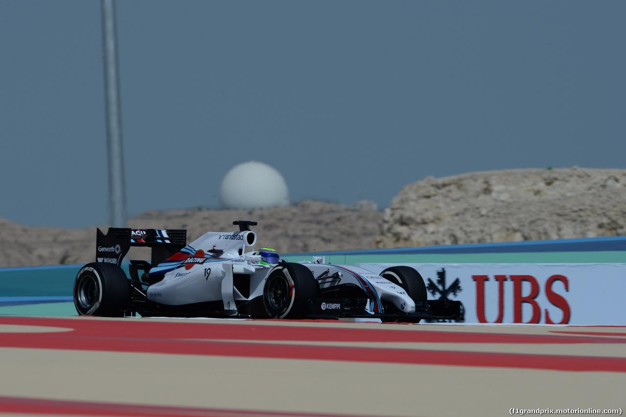 GP BAHRAIN, 04.04.2014- Prove Libere 1, Felipe Massa (BRA) Williams F1 Team FW36