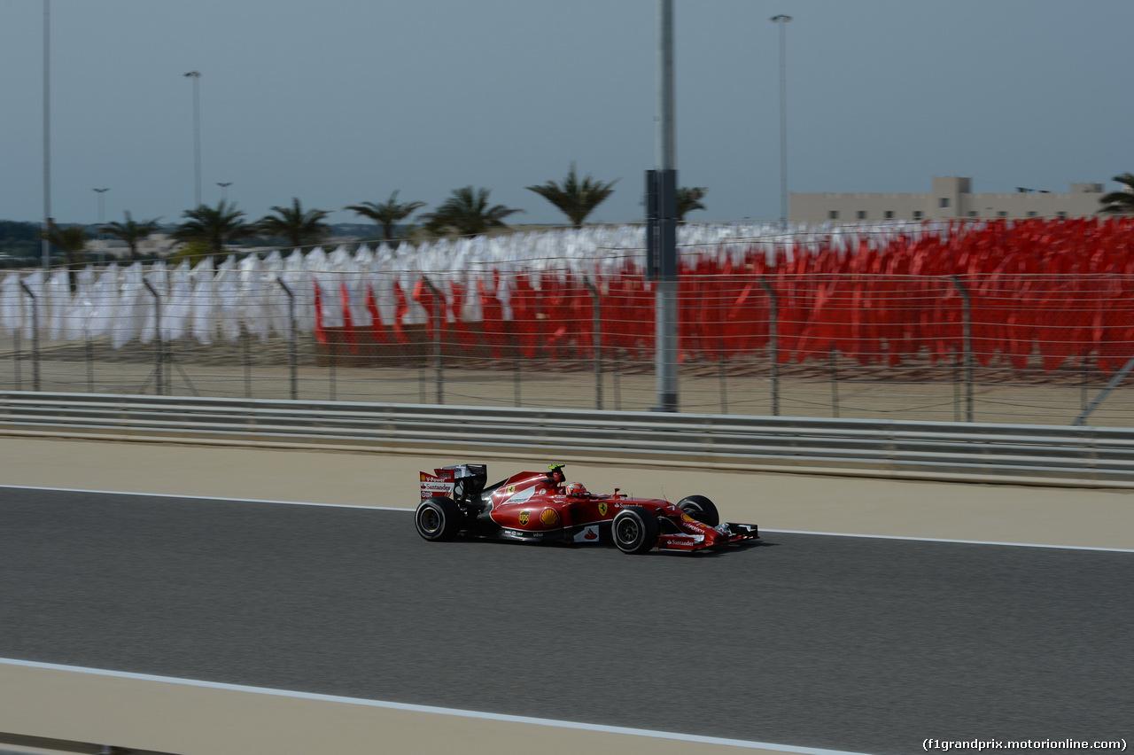 GP BAHRAIN, 04.04.2014- Prove Libere 1, Kimi Raikkonen (FIN) Ferrari F147