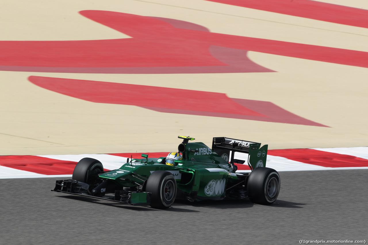 GP BAHRAIN, 04.04.2014- Prove Libere 1, Marcus Ericsson (SWE) Caterham F1 Team CT-04