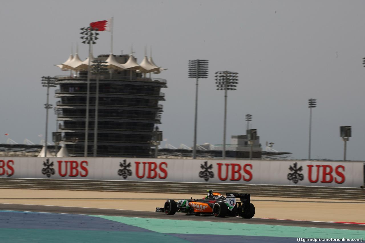GP BAHRAIN, 04.04.2014- Prove Libere 1, Sergio Perez (MEX) Sahara Force India F1 Team VJM07
