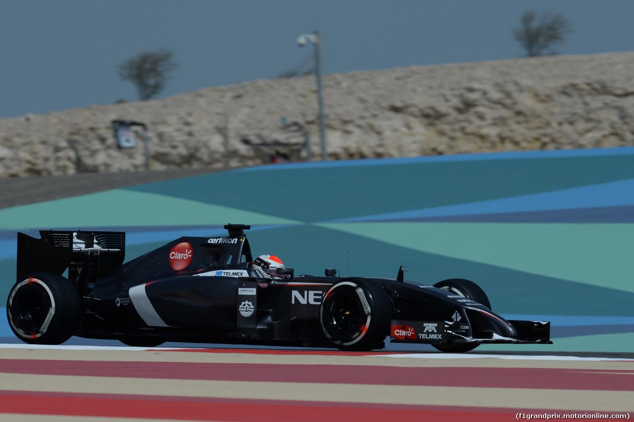 GP BAHRAIN, 04.04.2014- Prove Libere 1,Adrian Sutil (GER) Sauber F1 Team C33