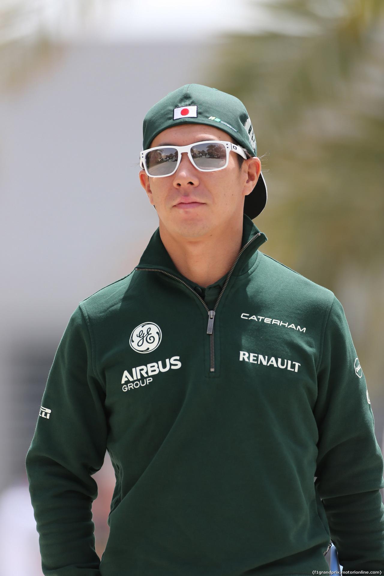 GP BAHRAIN, 04.04.2014- Kamui Kobayashi (JPN) Caterham F1 Team CT05