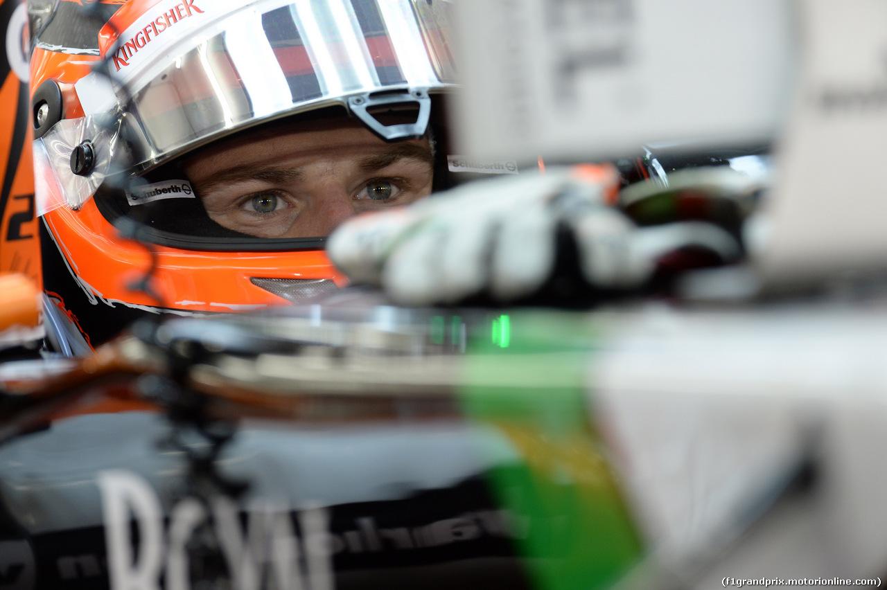 GP BAHRAIN, 04.04.2014- Prove Libere 2, Nico Hulkenberg (GER) Sahara Force India VJM07