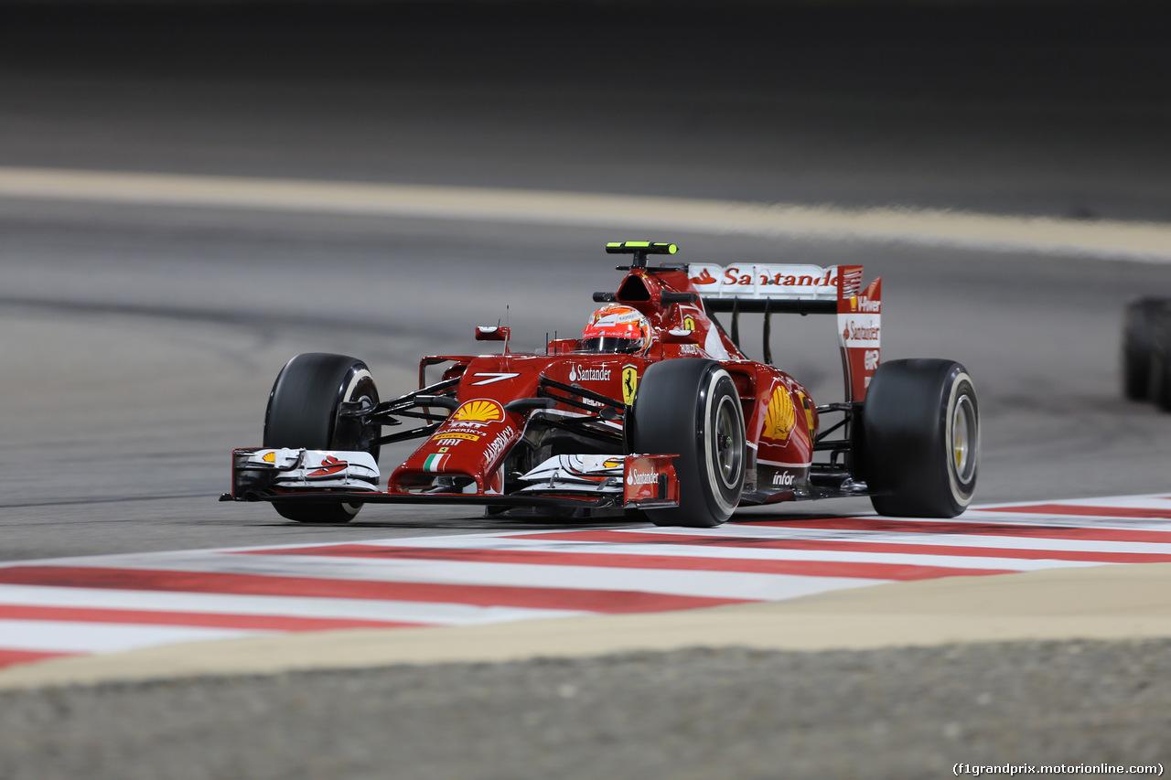 GP BAHRAIN, 04.04.2014- Prove Libere 2, Kimi Raikkonen (FIN) Ferrari F147