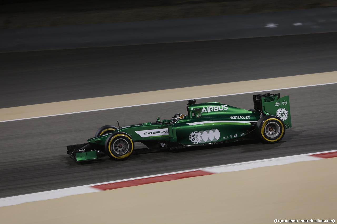 GP BAHRAIN, 04.04.2014- Prove Libere 2, Kamui Kobayashi (JPN) Caterham F1 Team CT05