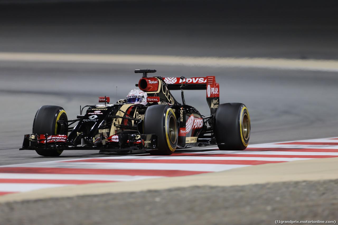 GP BAHRAIN, 04.04.2014- Prove Libere 2, Romain Grosjean (FRA) Lotus F1 Team E22
