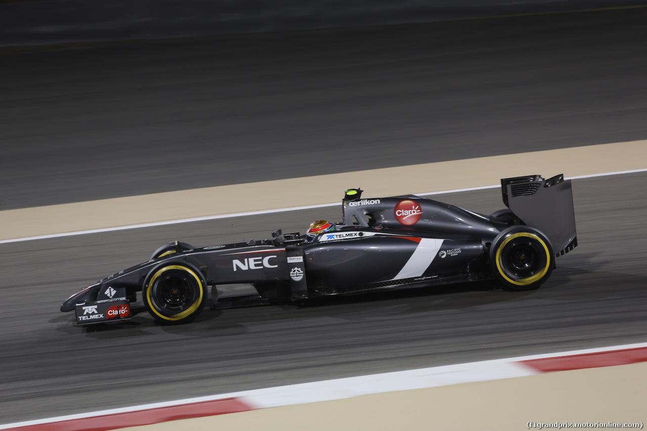 GP BAHRAIN, 04.04.2014- Prove Libere 2, Esteban Gutierrez (MEX) Sauber F1 Team C33