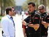 GP BAHRAIN, 04.04.2014-  Federico Gastaldi (ARG) Lotus F1 Team Deputy Team Principal  e Dave Robertson (GBR) Driver Manager