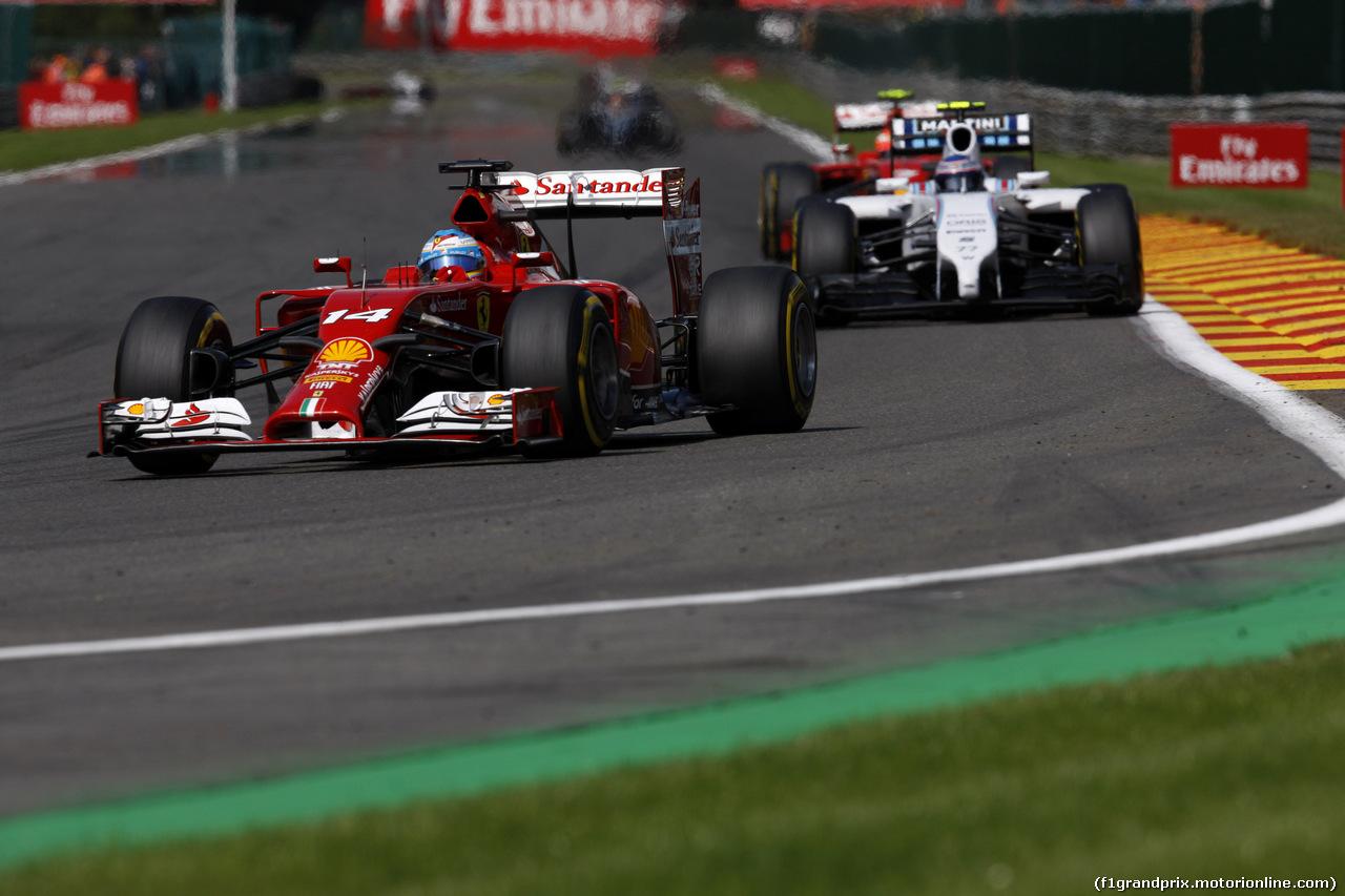 GP BELGIO, 24.08.2014- Gara, Fernando Alonso (ESP) Ferrari F14-T