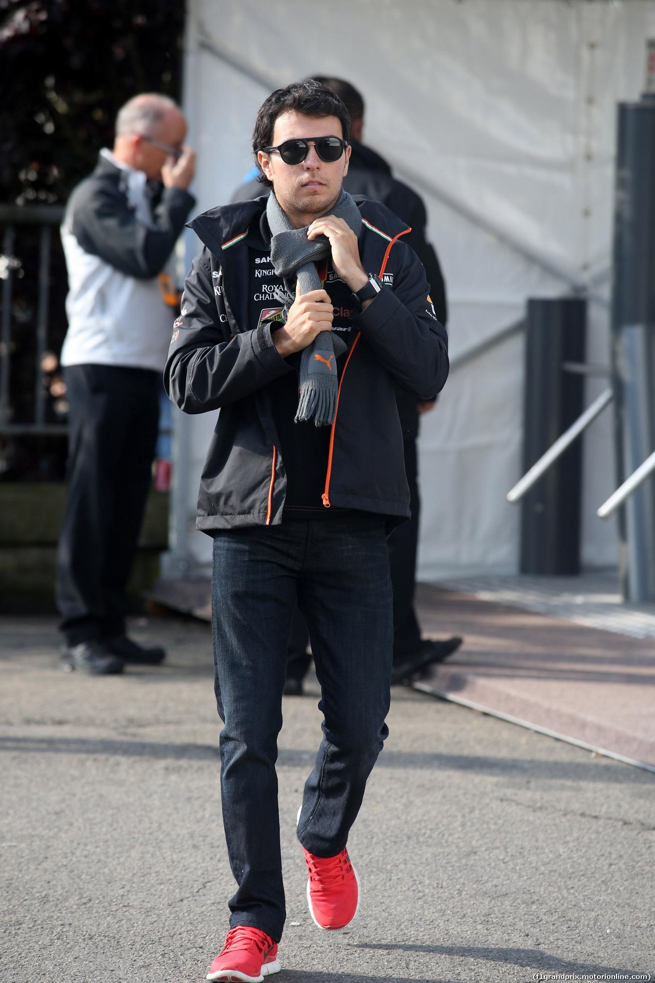 GP BELGIO, 24.08.2014- Sergio Perez (MEX) Sahara Force India F1 VJM07